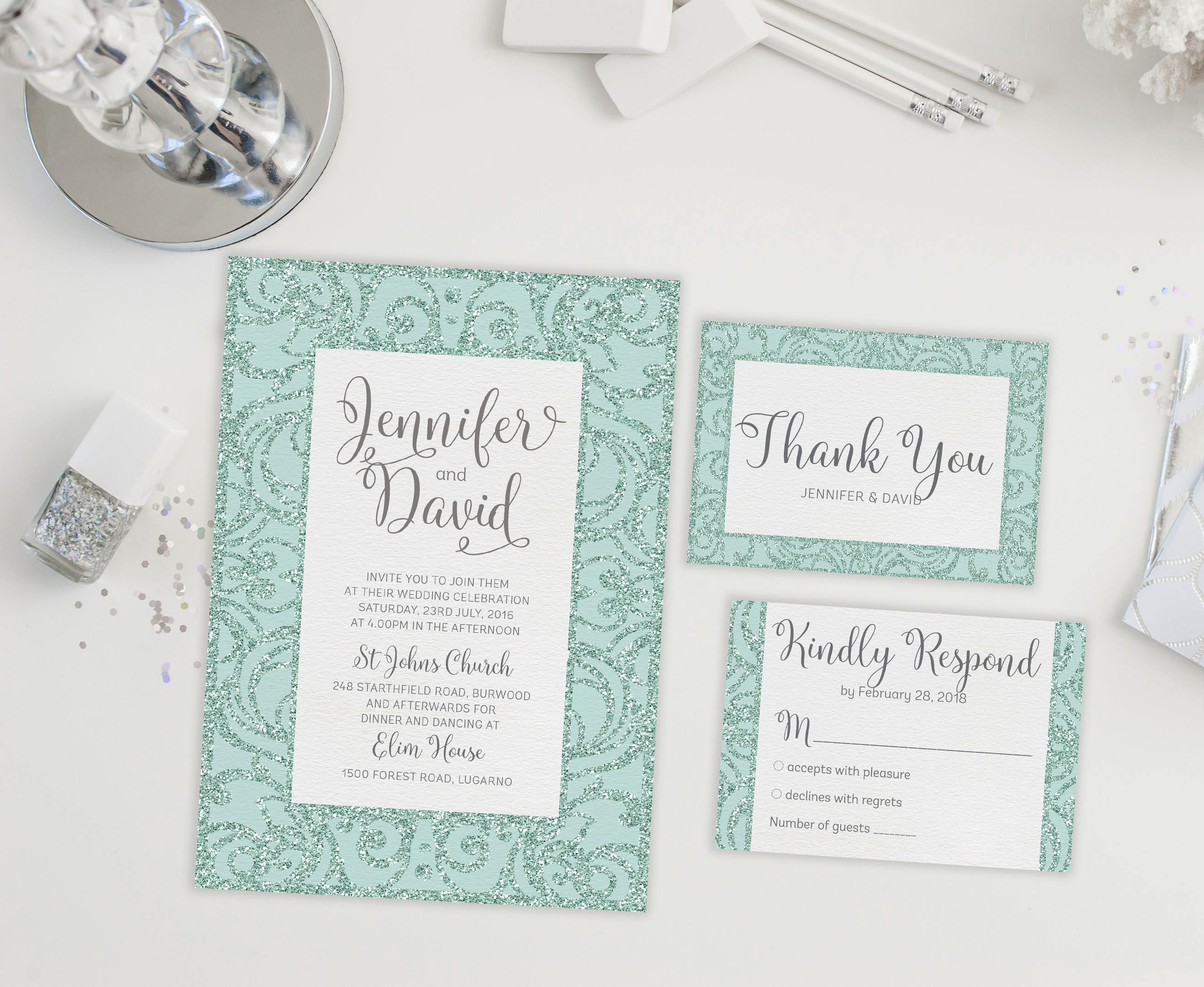 Printable Wedding Invitation Instant Download Wedding Invite