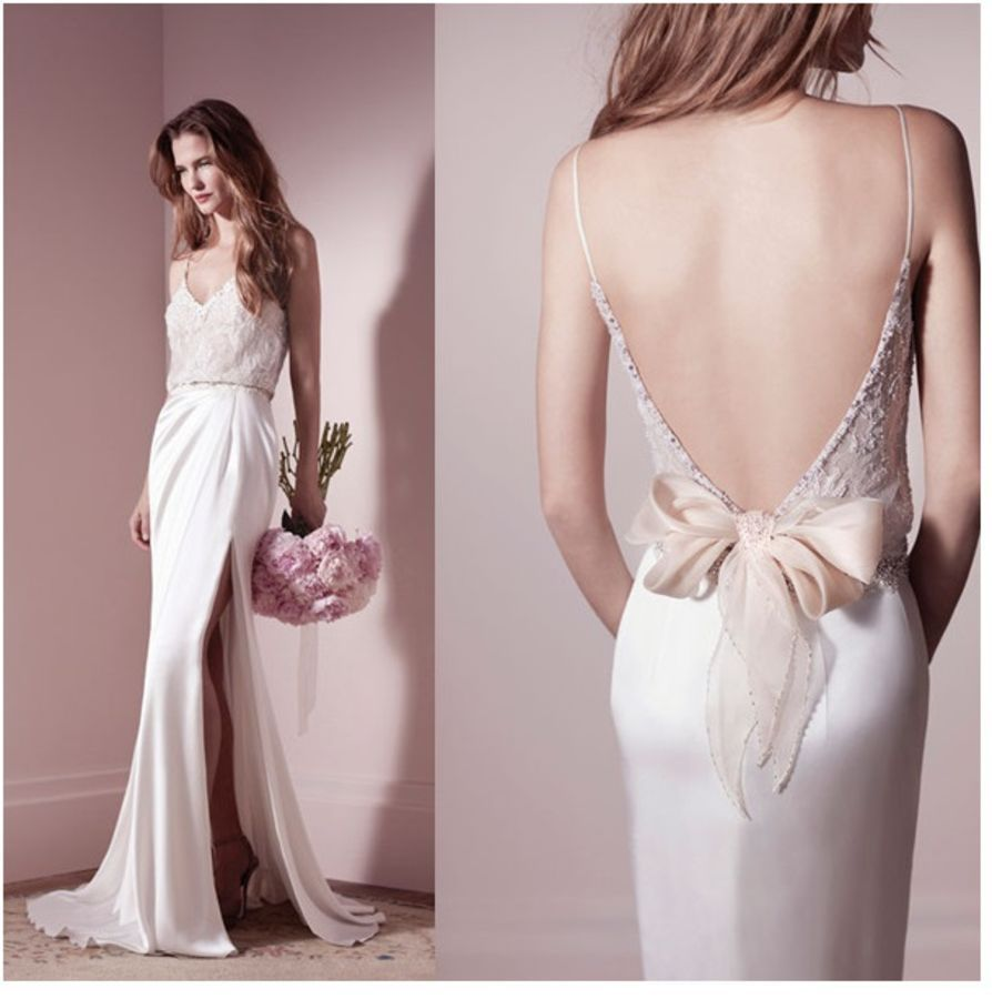 V Neck and Low Back Wedding Dresses Click on image for more ideas ...