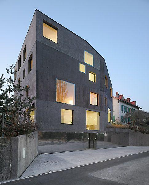 Architectes epfl lausanne facades housing pinterest for Architecte lausanne