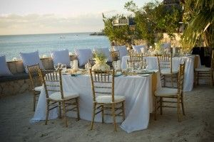 Beach Wedding Reception At The Caves In Negril Jamaica Luxe Hotel Collection