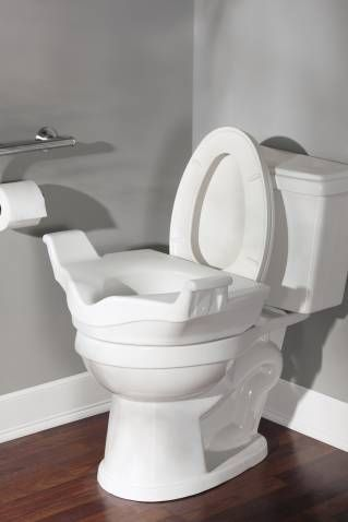 Home Care Glacier Elevated Toilet Seat With Images Toilet Seat