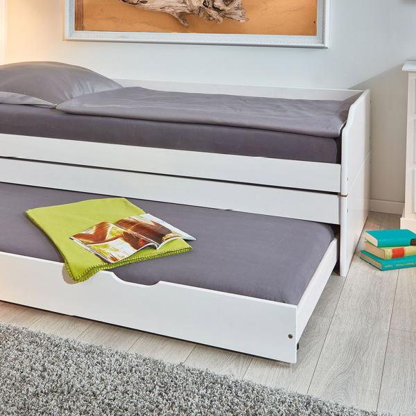 Funktionsbett Aus Massiver Kiefer Mit Drei Schlafplatzen 3 In 1 Funktionsbett Bett Mit Schubladen Bett