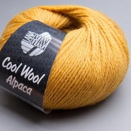 Lana Grossa Cool wool Alpaca - Baby Alpaca + Merino, color 001 Old Gold
