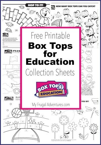 10 printable box tops for education collection sheets - School Worksheets To Print For Free
