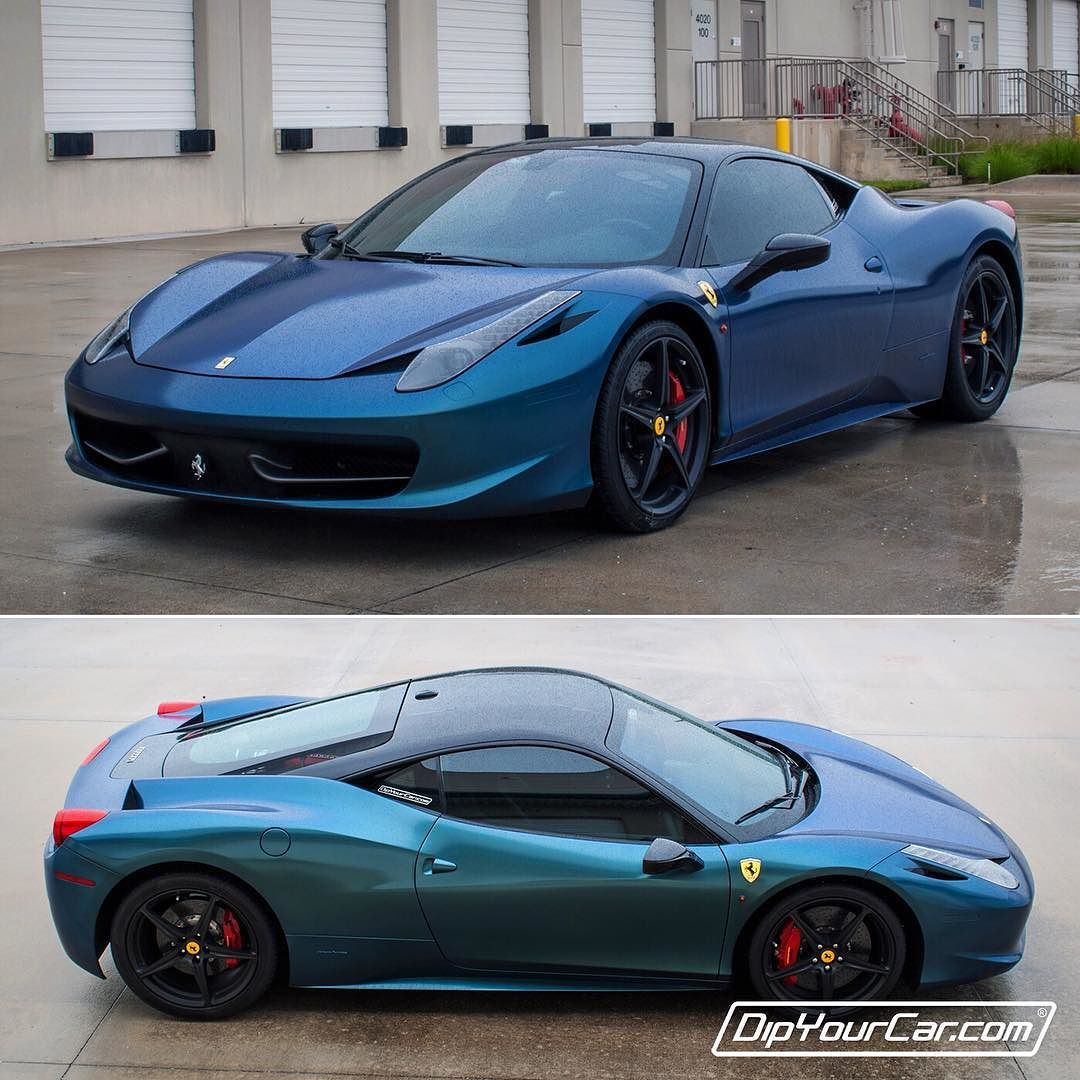 Paint your car in a garage in 1 hour dip your car youtube - 458 Italia Dipped Atlantic Blue By Dipyourcar Video On Youtube The Worlds Most