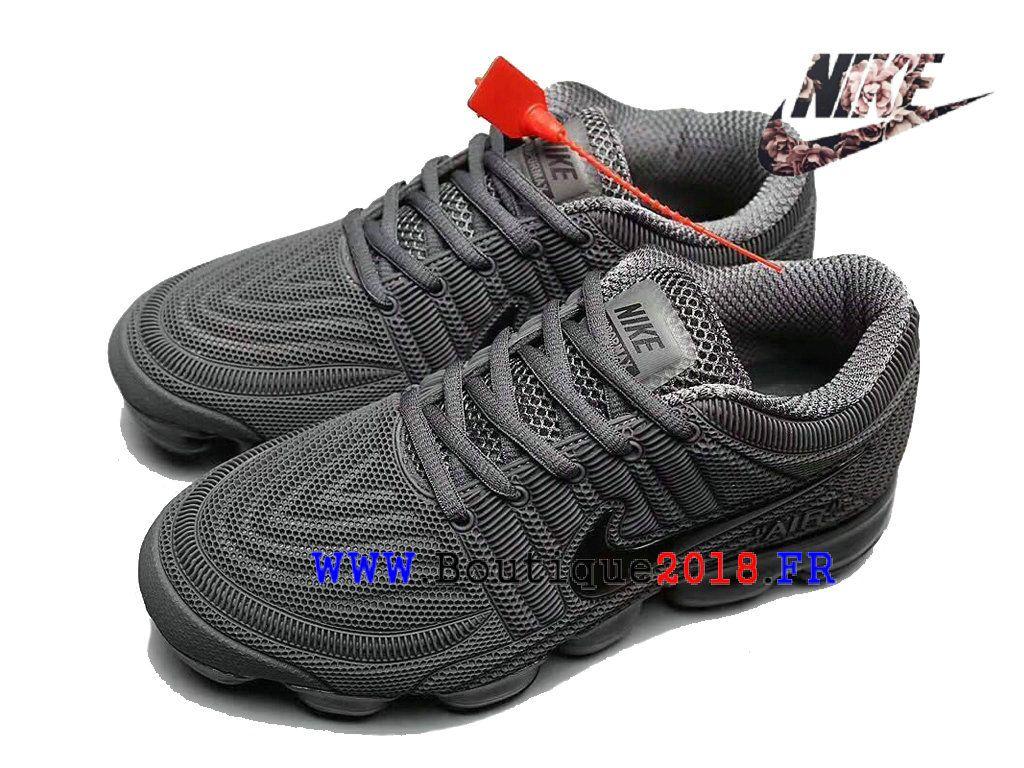 newest c2084 af988 Nike Air VaporMax 2018 Flyknit Nouveauté Fashion Sports Chaussures Pas cher  Homme Gris noir