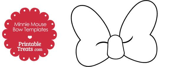 Free Printable Minnie Mouse Bow Template Minnie Mouse Silhouette
