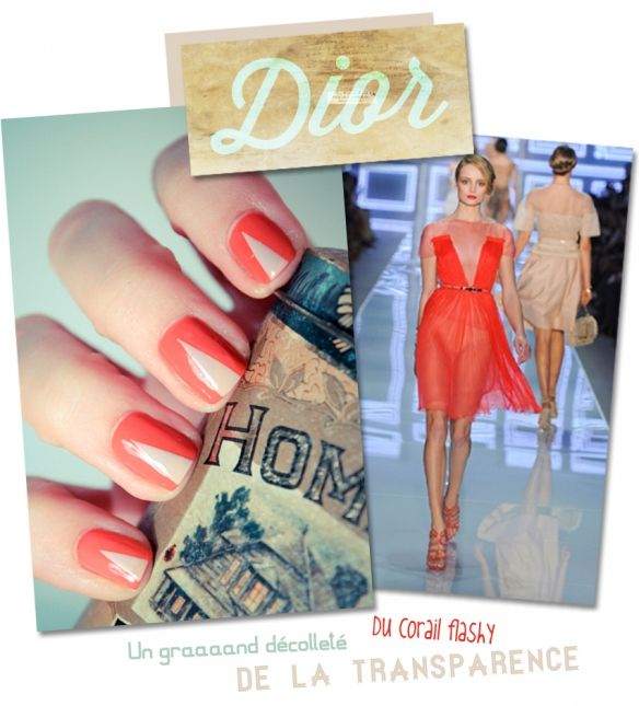 Nails inspired by Dior fashion show