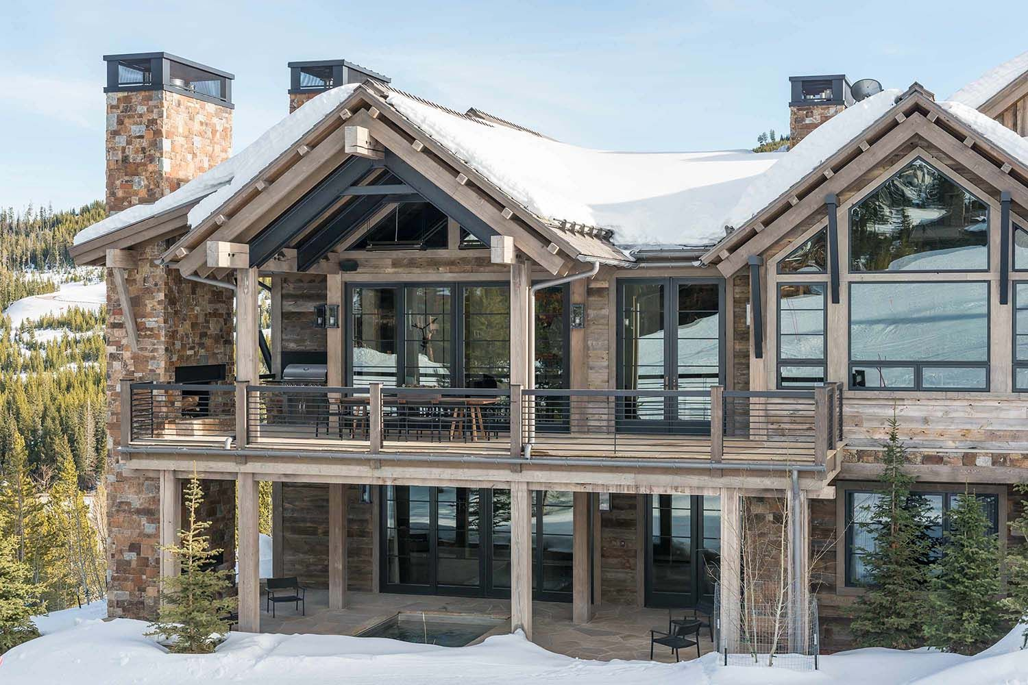 Hillside snowcrest the ultimate modern rustic ski chalet in montana