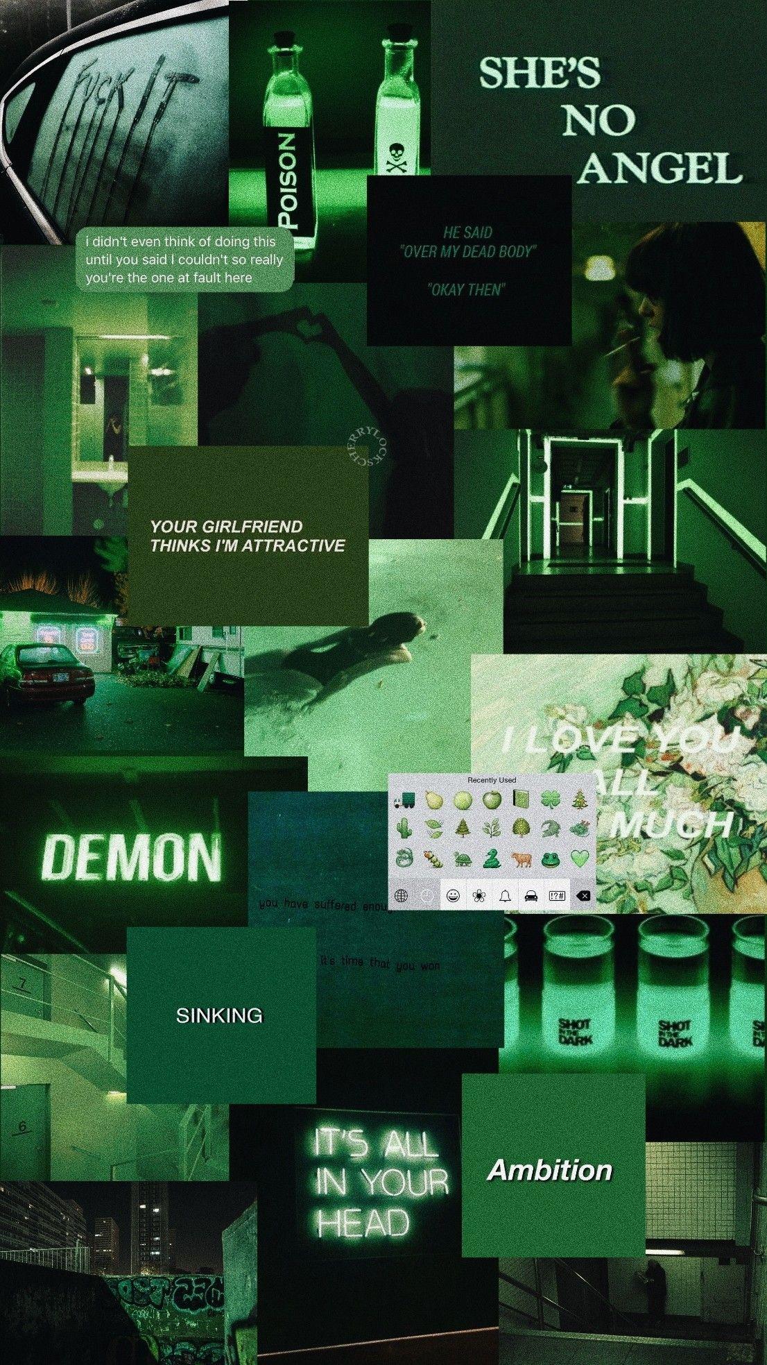 Lockscreen: verde Green aesthetic | Aesthetic w 2019 | Tła ...