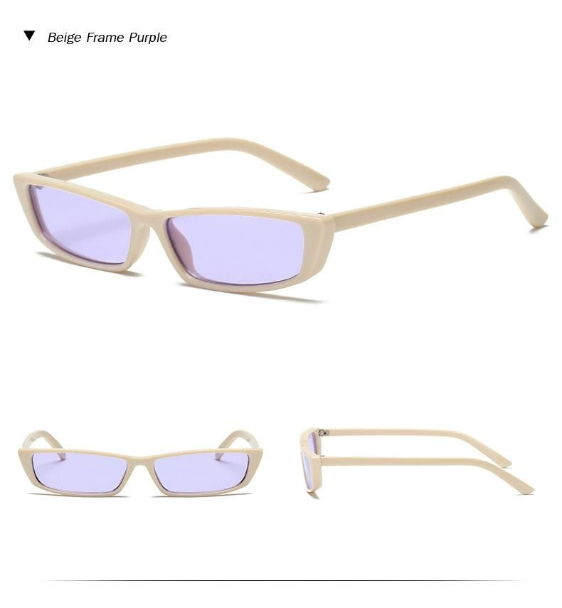 dbbc28ebc0f8 Owl City Brand Women'S Vintage Rectangle Small Framed Sunglasses S1707 –  FuzWeb