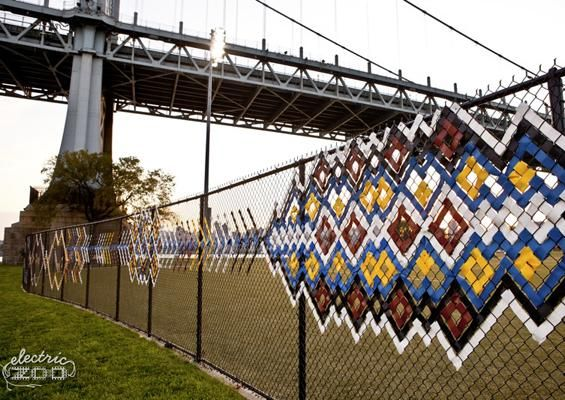 Fence art Tenkenas Sash Randalls Island NYC New York City