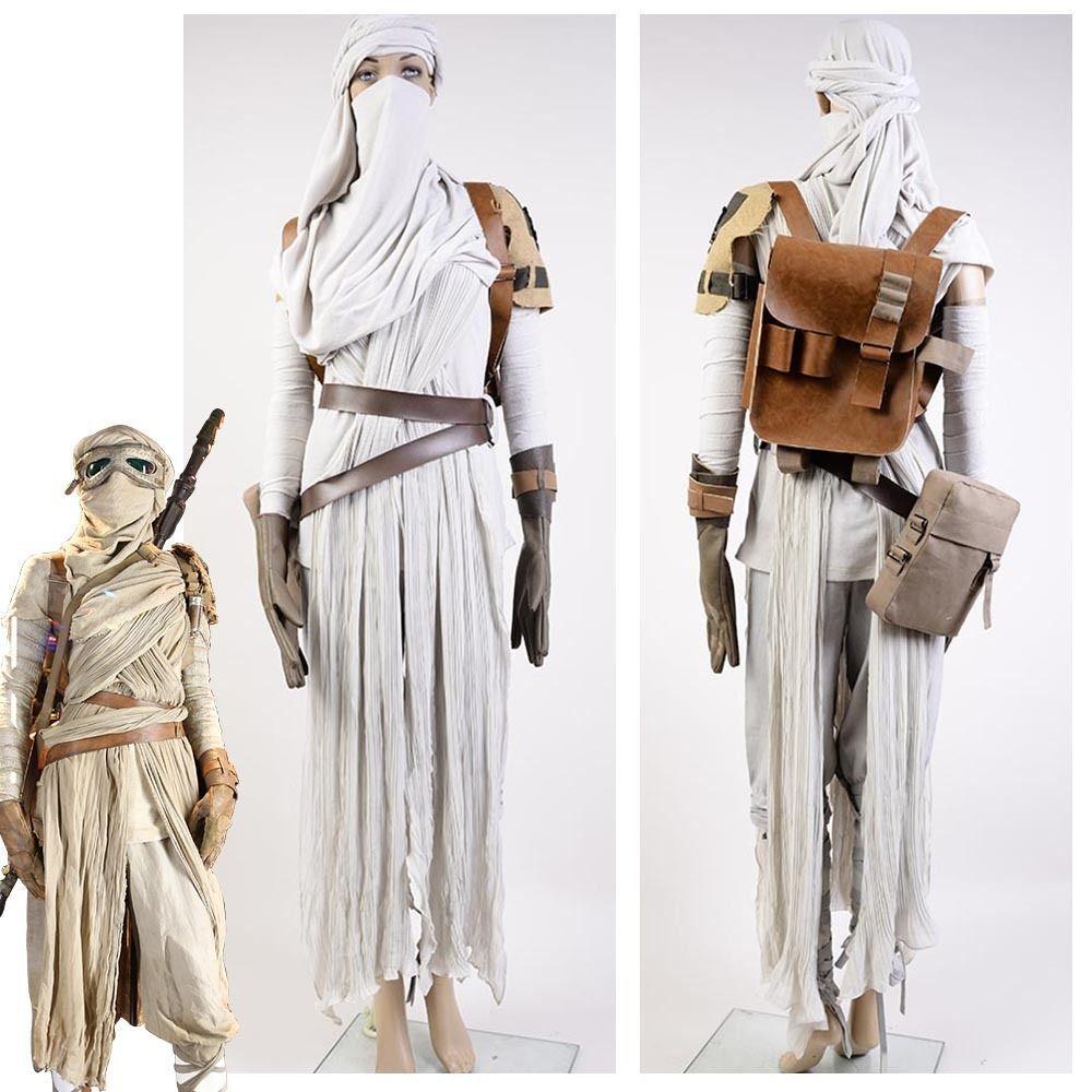 details zu star wars vii das erwachen der macht rey cosplay kost m f r erwachsene rey. Black Bedroom Furniture Sets. Home Design Ideas