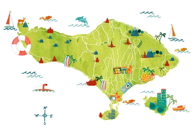 130201 bali map flatten bali pinterest 130201 bali map flatten gumiabroncs Images