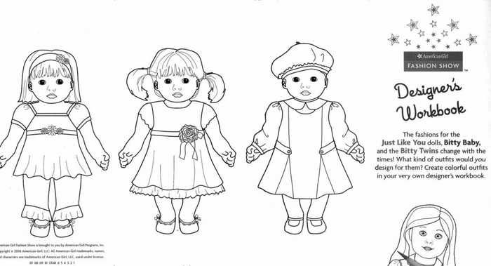 Printable American Girl Coloring Pages Free Coloring Sheets Baby Coloring Pages Coloring Pages For Girls Bitty Baby American Girl
