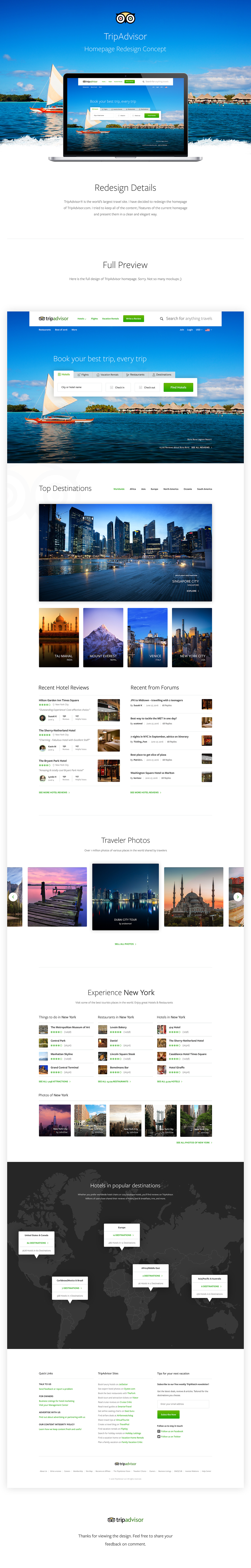 TripAdvisor Redesign on Behance | web design | Pinterest | Plantas