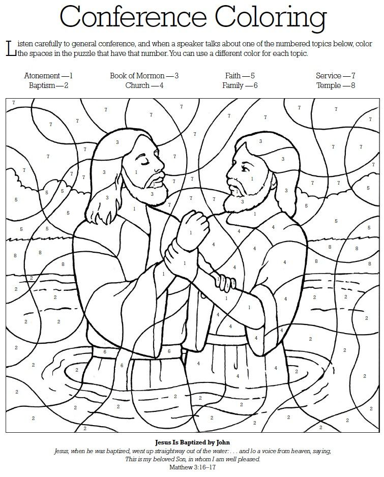 Lds Games Com General Conference Coloring Lds General