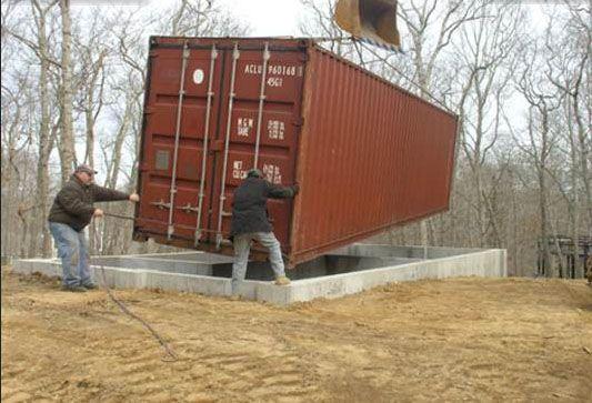 construction stages 40 ft shipping container studio maisons bois maison conteneur pinterest. Black Bedroom Furniture Sets. Home Design Ideas