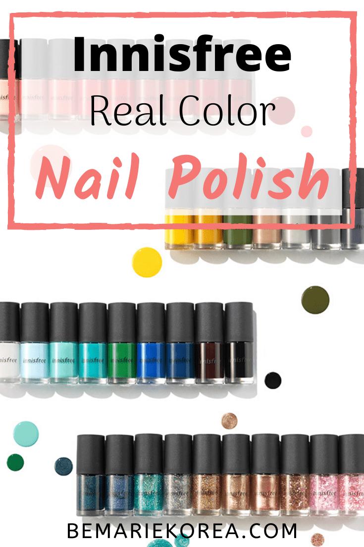 Innisfree Nail Polish Review Innisfree Real Colour Nails Coating 2020 In 2020 Nail Polish Nail Colors Nail Base Coat