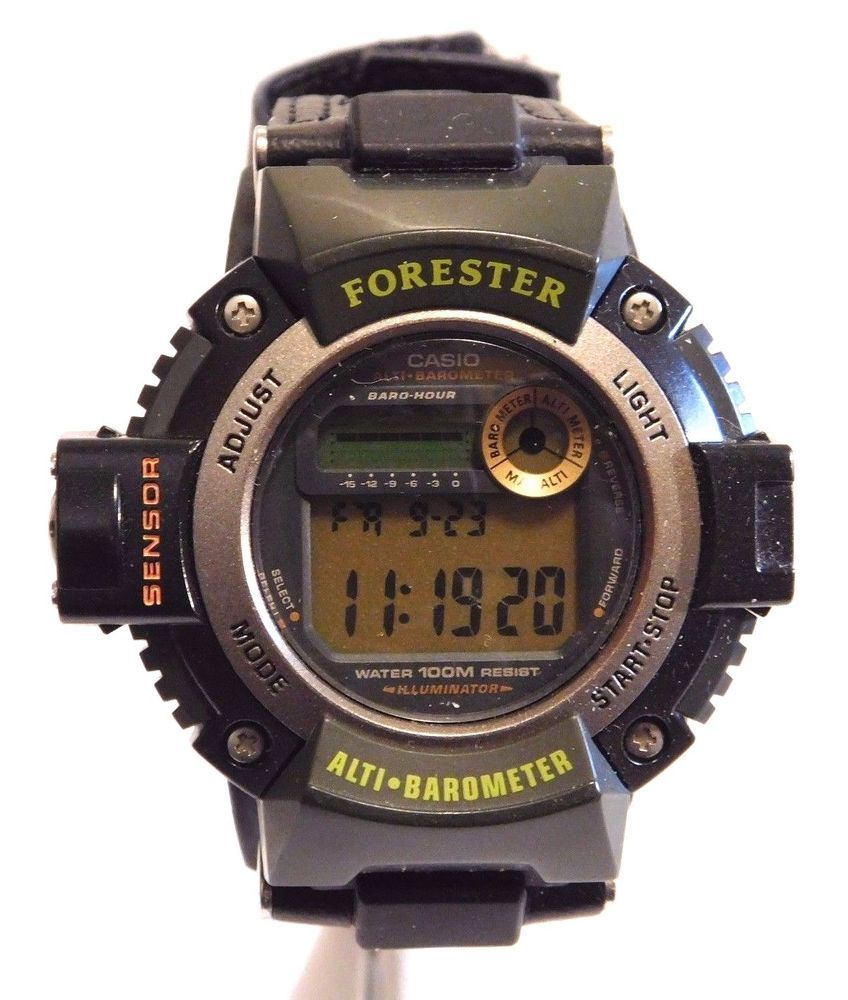 casio forester alti barometer watch 2147 fts 100 wr 10 bar rh pinterest com casio forester watch instructions Casio Forester Watch Battery