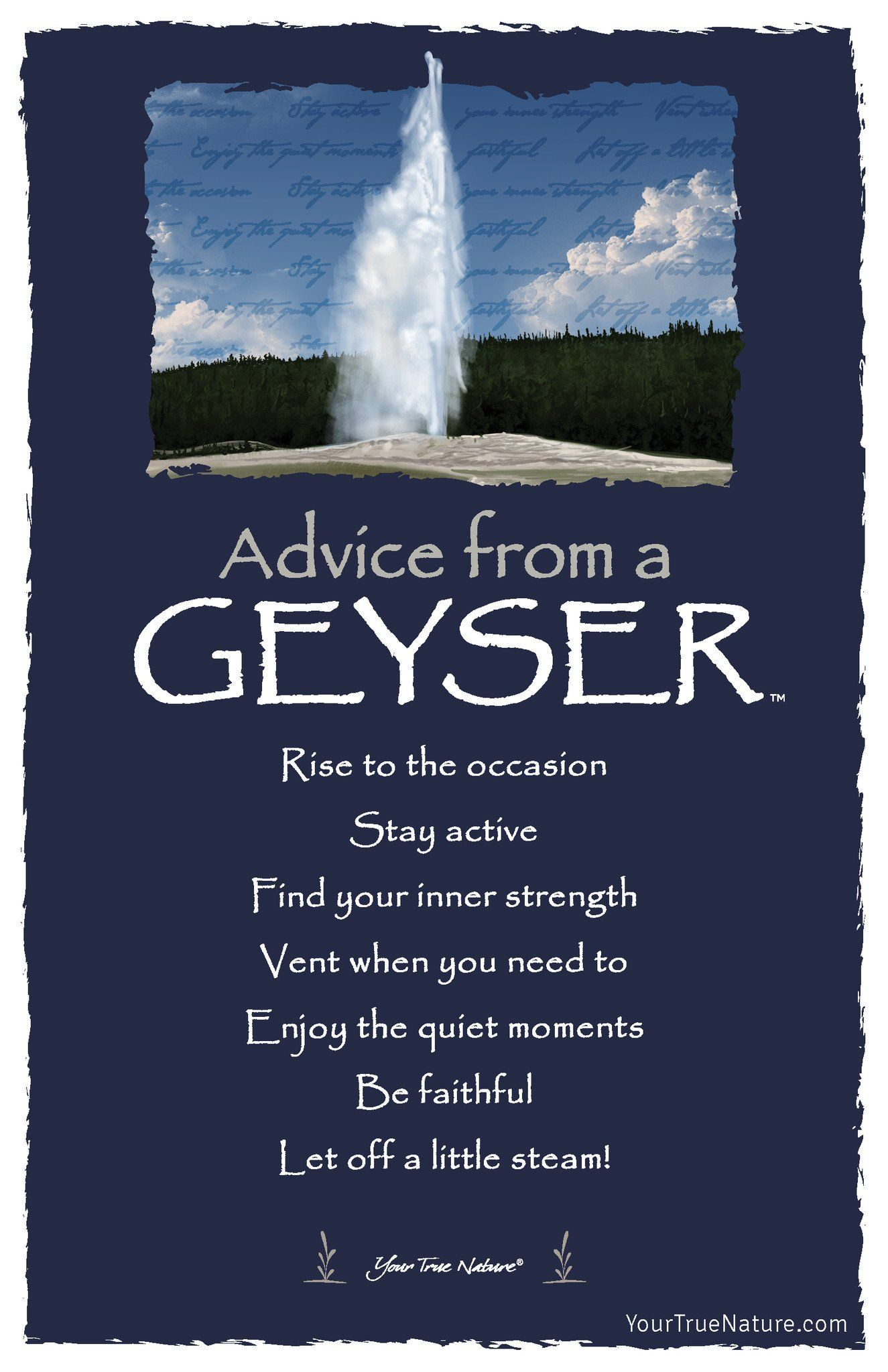 Advice From The Earth Frameable Art Card Your True Nature Inc