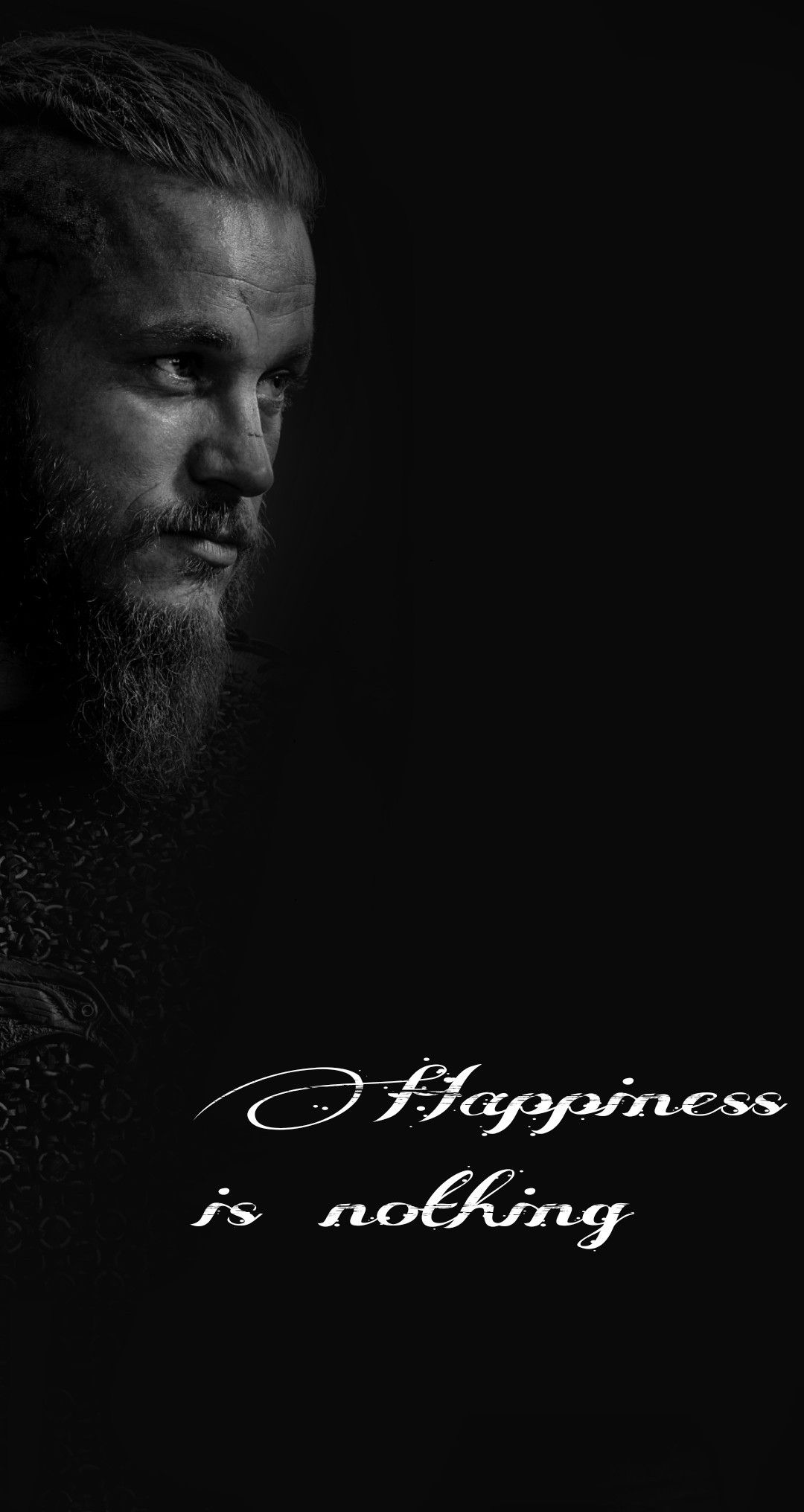 Wallpaper Ragnar Lothbrok Vikings Happiness Is Nothing