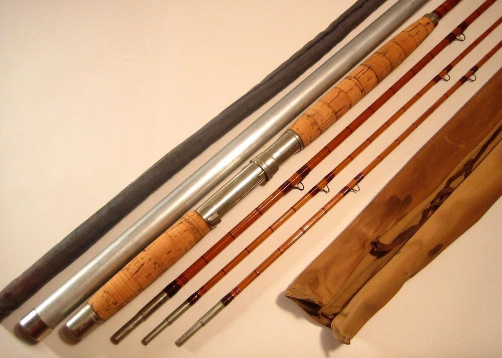Antique 12 1 2 3 2 Fe Thomas Special Bamboo Salmon Fly Rod Bag Tip Tube Fethomas Bamboo Fly Rod Bamboo Rods Fly Rods