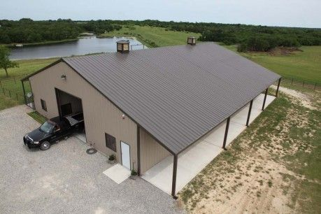 Best Walls Desert Tan Roof Burnished Slate Metal Barn 640 x 480