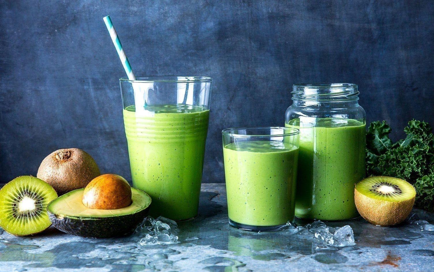Avocado, Kale and Spinach Smoothie #myfitnesspalrecipes