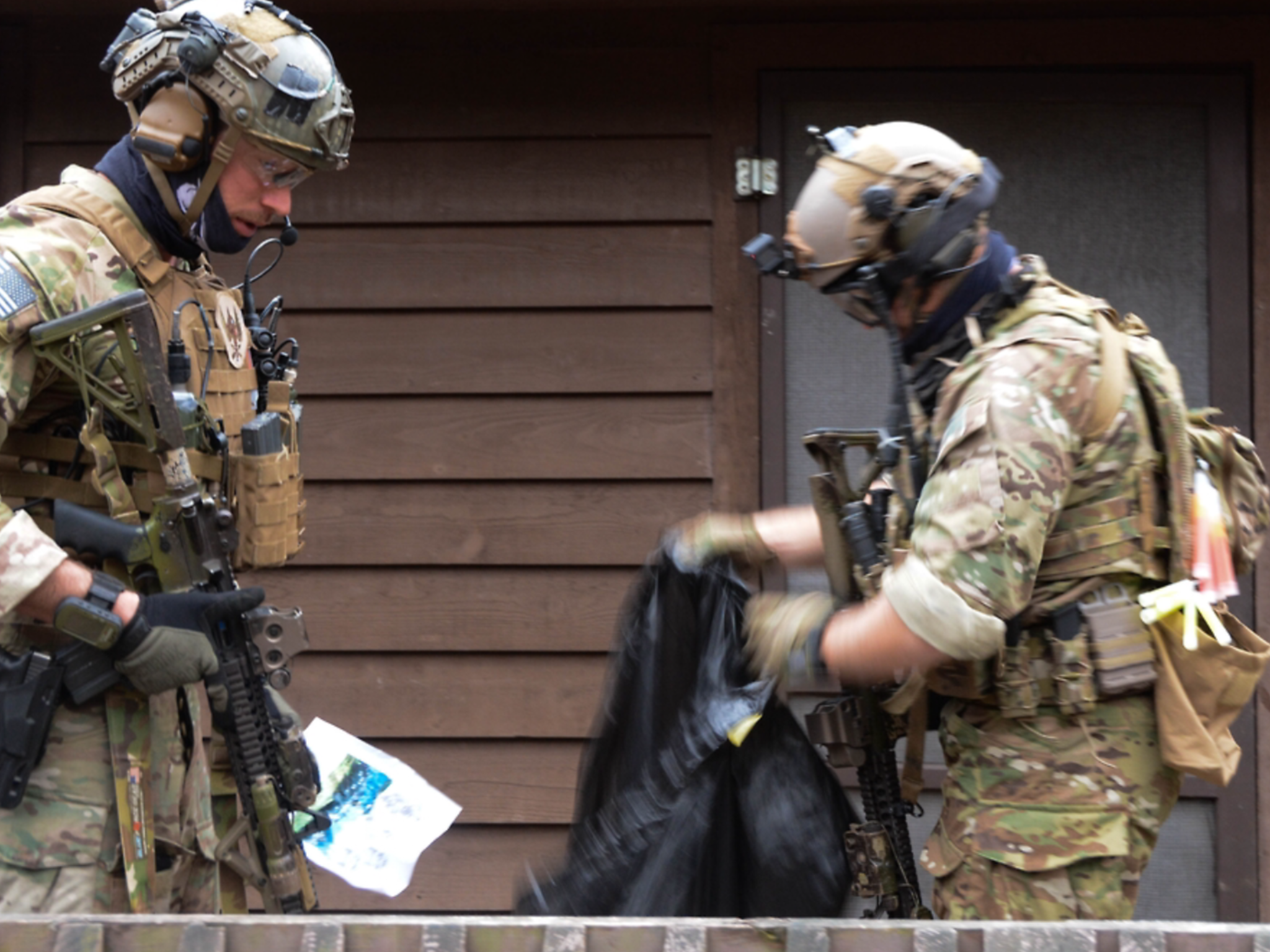 Estonian Special Forces, alongside members with the 10th