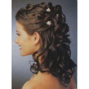 Curly Brown Hair Wedding Styles