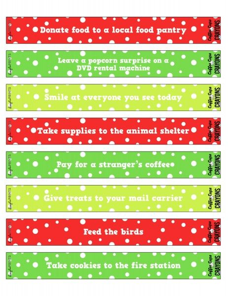 Christmas kindness countdown chain printable paper chains christmas kindness countdown chain printable pronofoot35fo Image collections