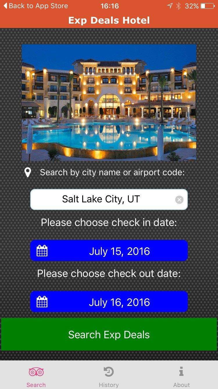 An app that will reveal hotel names prior to booking on