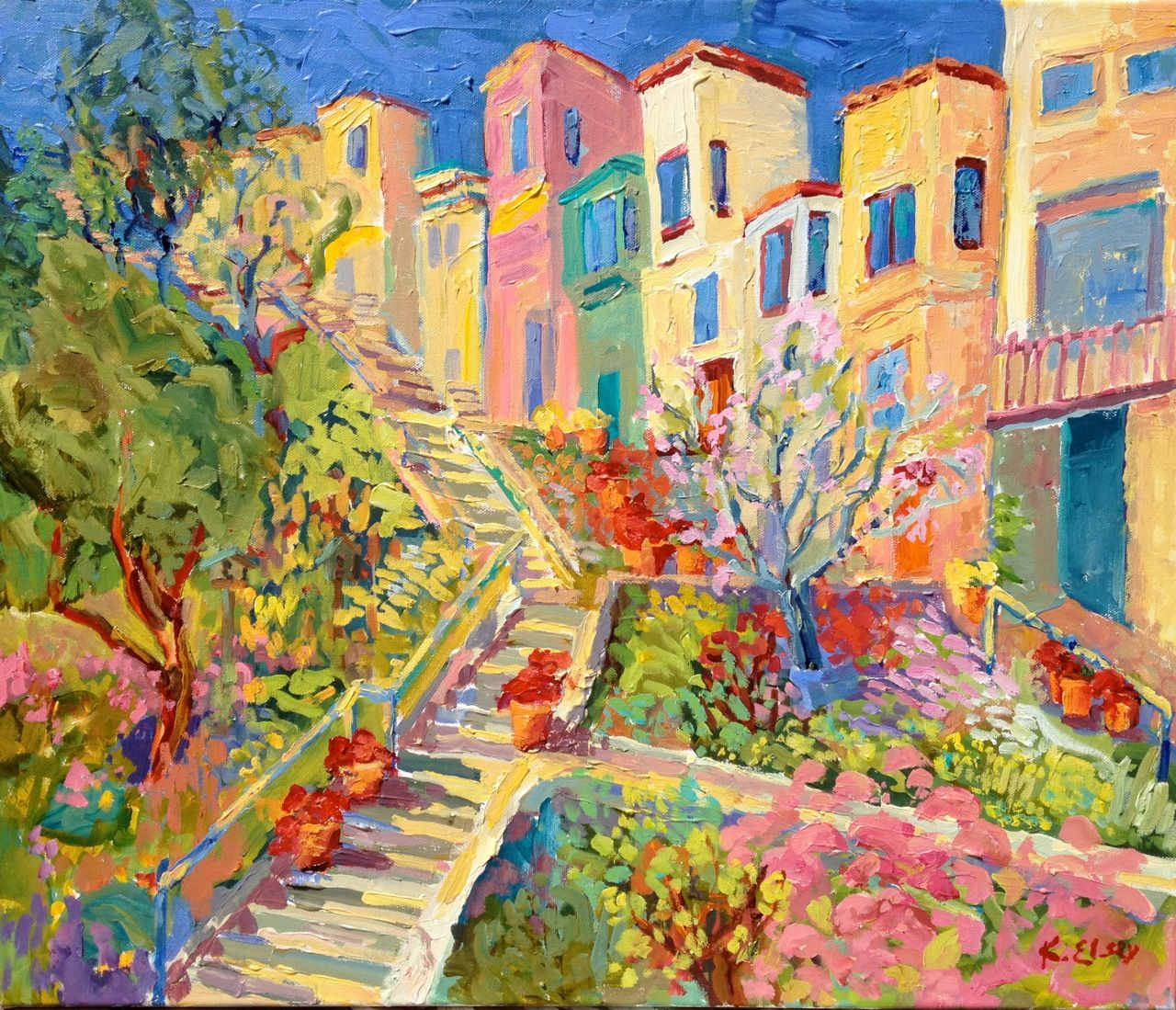 Steps Of San Francisco By Kathleen Elsey Famous