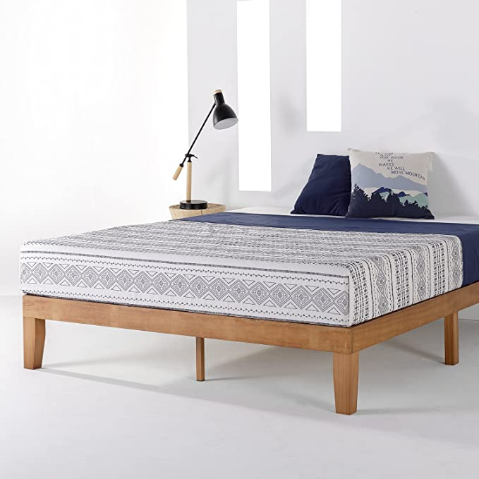 Amazon Com Mellow Naturalista Classic 12 Inch Solid Wood Platform Bed With Wooden Slats Wooden Platform Bed Wood Platform Bed Frame King Platform Bed Frame Can you use a boxspring with a platform bed