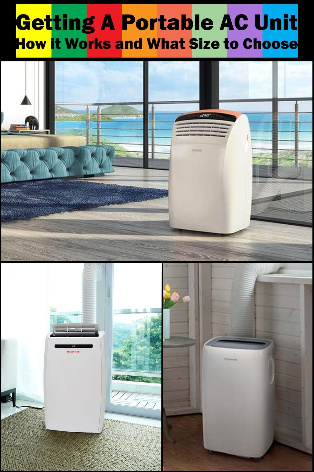 Getting A Portable Ac Unit How It Works And What Size To Choose The Soothing Air Portable Ac Unit Bedroom Air Conditioner Portable Ac