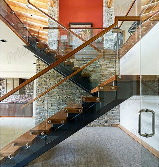 High quality customized solid wood handrails interior wood - Interior stair railing contractors ...