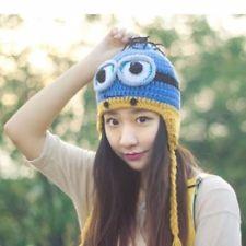 Girls Handmade Crochet Despicable Me Minion Beanie Knit Wool Hat Ski Cap BLUTWO http://ift.tt/1iFcTMU