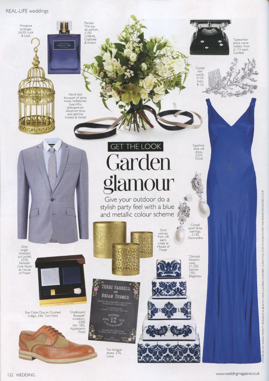 Diamonfire in Wedding magazine, April/ May 2015. http
