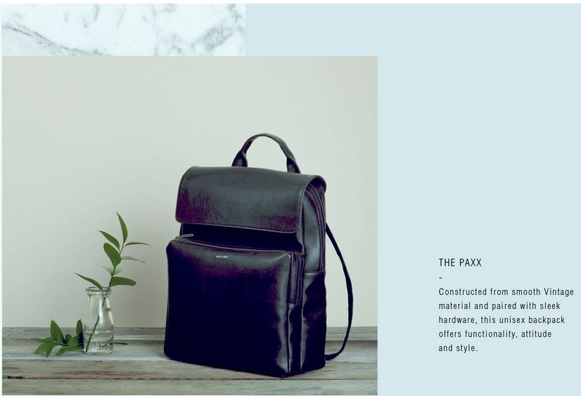 It's all about simplicity and style with this the 'Paxx' backpack by Matt & Nat