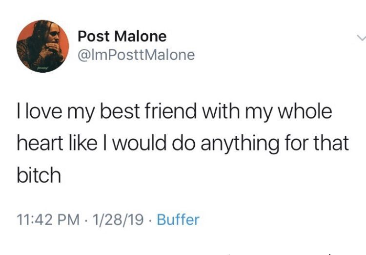 Pin By Carsen On Tweets Post Malone Quotes Tweet Quotes Bff Quotes