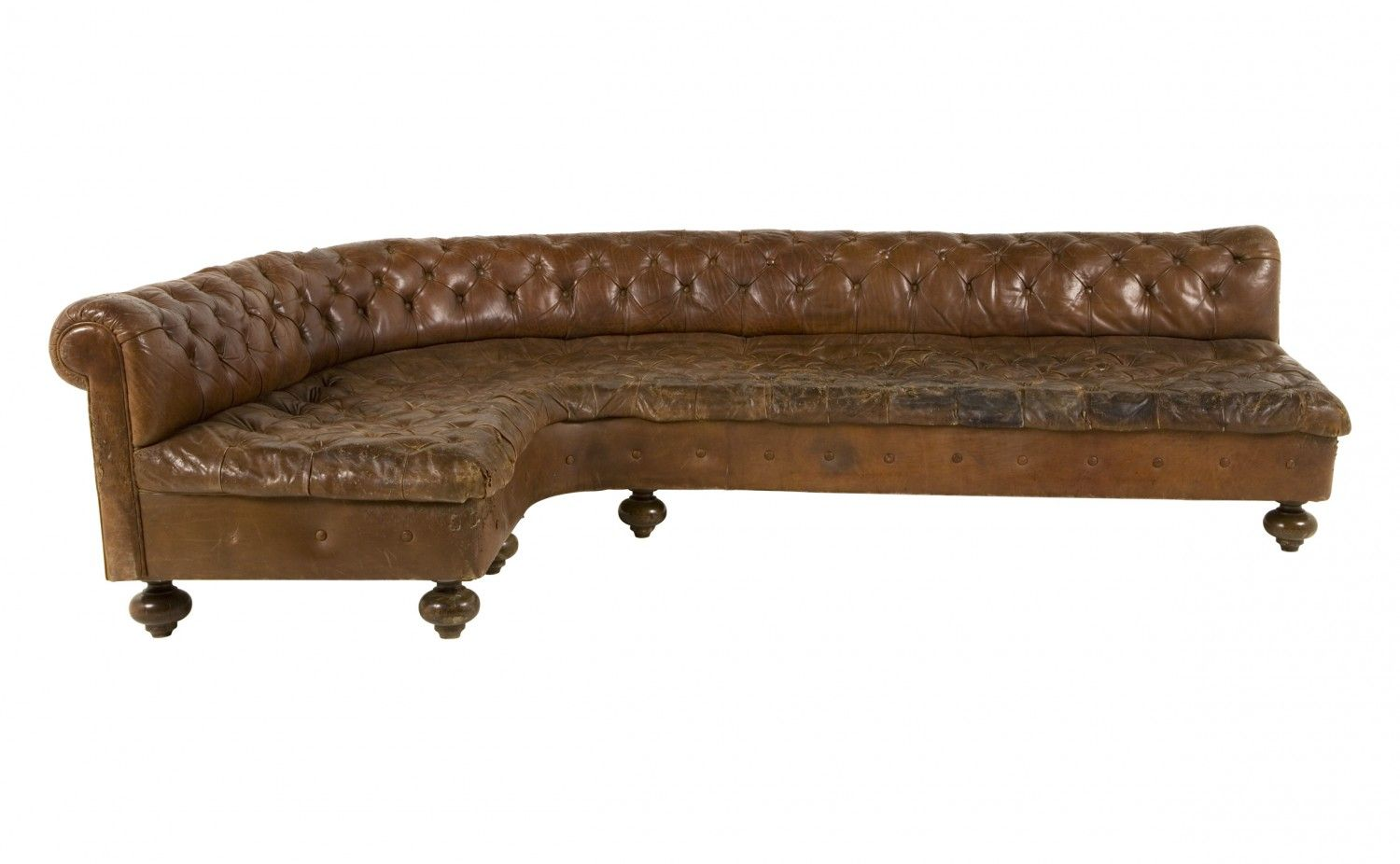 Antique Curved Leather Sofa Jayson Home Leather Sofa Antiques Modern Vintage Furniture