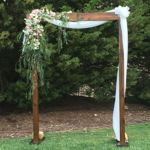 Wedding Altar Hire: Walnut Timber Arch In 2018