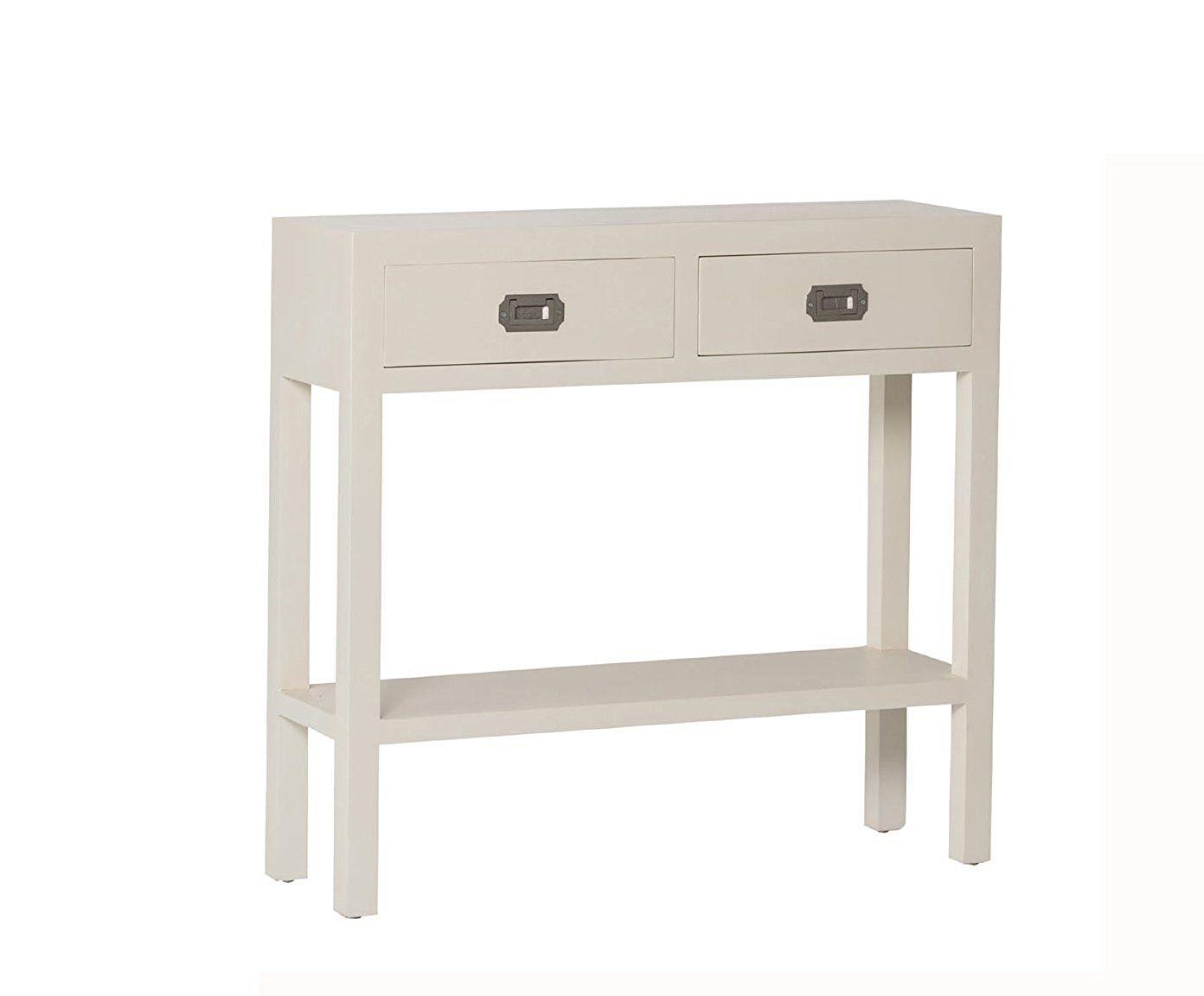 Mueble Recibidor De Madera Blanco 2 Cajones Gaya Amazon Es  # Muebles Requero