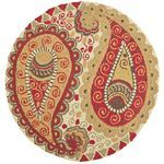 Paisley Round Rug - Spice for entryway at pier 1