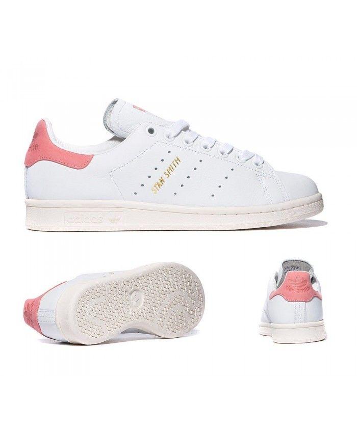 design de qualité 2bdab ede58 Adidas Originals Stan Smith Blanche Et Rayon Rose Matériaux ...