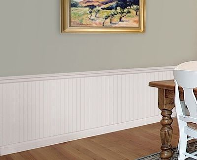 Pvc Beadboard Kit 36 H 8 Ft Pvc Beadboard Beadboard Wainscoting Faux Wainscoting