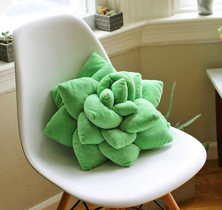 Succulent Cactus Decor Pillow