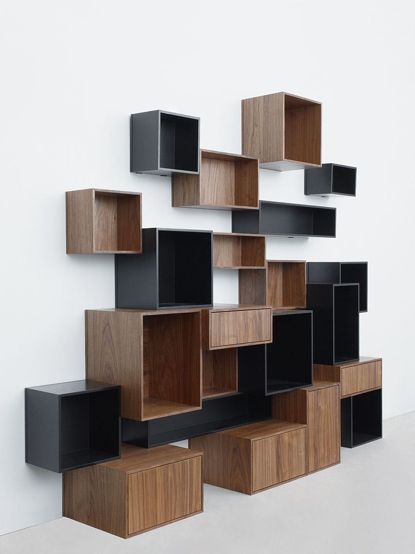 Good Furniture, Majestic Contemporary Book Shelving System Design Inspirations:  Fancy Futuristic Modular Shelf In MDF Images