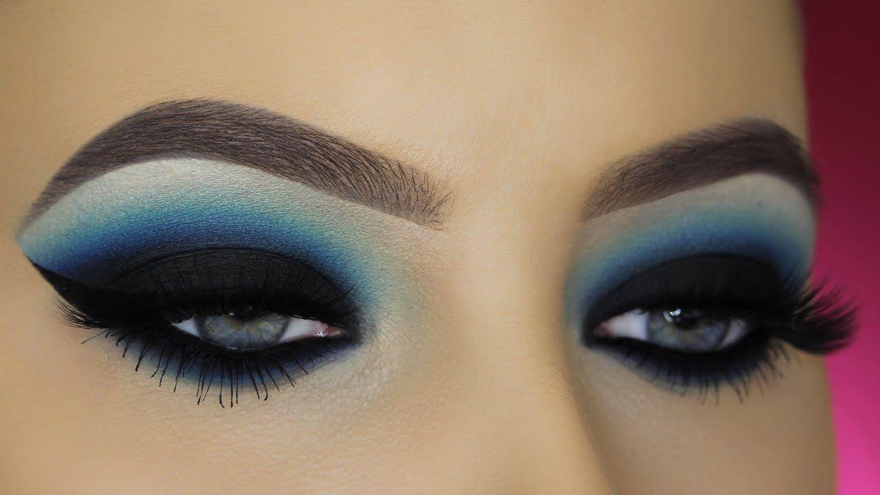 blue smokey eyes tutorial - youtube | makeup in 2019 | blue